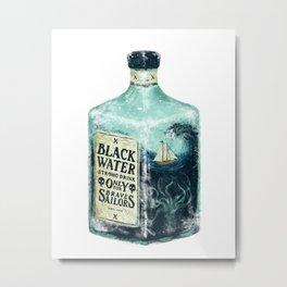 BLACK WATER Metal Print
