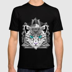 Snow Leopard X-LARGE Mens Fitted Tee Black
