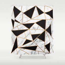 Marble Mosaic Shower Curtain