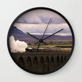 Flying Scotsman at Ribblehead Wall Clock