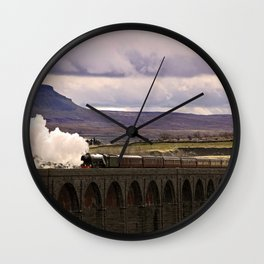 Flying Scotsman at Ribblehead Wall Clock