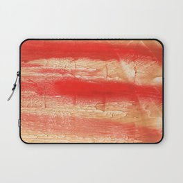 Burnt sienna abstract watercolor Laptop Sleeve