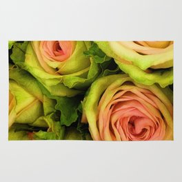 Green & Pink Bouquet Rug