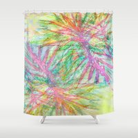 florida Shower Curtains featuring Florida Feeling by Sand Salt Moon