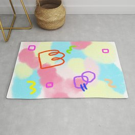 Pastel Tie Dye - Life Is A Circus no.4 - abstract pattern Rug