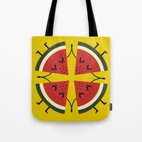 watermelon Tote Bags featuring watermelon by ValoValo