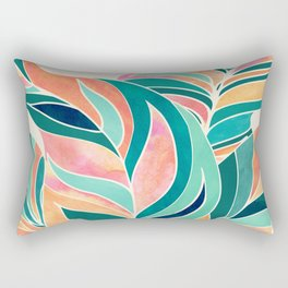 Rise Up / Tropical Leaf Illustration Rectangular Pillow