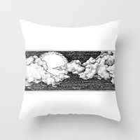 8 bit Throw Pillows featuring 8 Bit Sky by Corinne Elyse