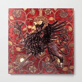 Black Gryphon - Garden of Beasts Collection Metal Print