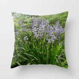 Woodland Bells Throw Pillow