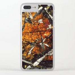 Pyroxene Crystals Clear iPhone Case