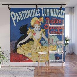 Vintage film history ad Jules Cheret Wall Mural