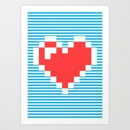Pixel Heart, Art Print