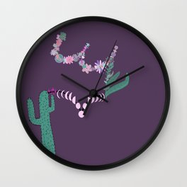 Let Yourself Bloom in Violet Wall Clock