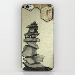 A Cairn - memorial stones iPhone Skin