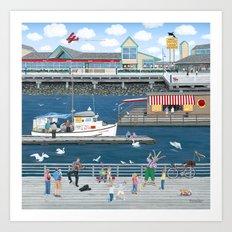 Steveston Landing Art Print