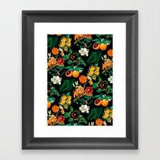 Fruit and Floral Pattern Framed Art Print