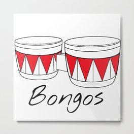 Bongos Metal Print