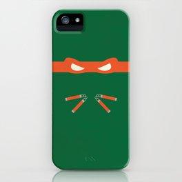 Orange Ninja Turtles Michelangelo iPhone Case