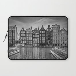 AMSTERDAM Damrak and dancing houses Laptop Sleeve