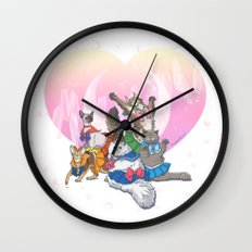 Sailor Kitties Wall Clock