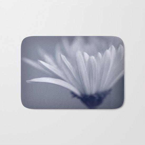 White Flower Macro Bath Mat