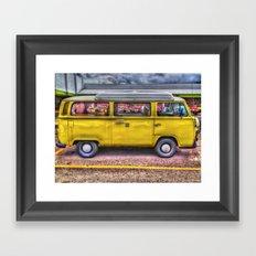yellow car Framed Art Print