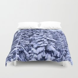 Snow Trees  Duvet Cover