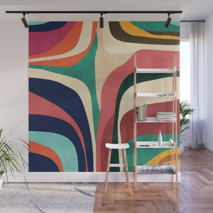 Impossible contour map Wall Mural