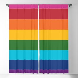 Gilbert Baker Original Pride Flag Blackout Curtain