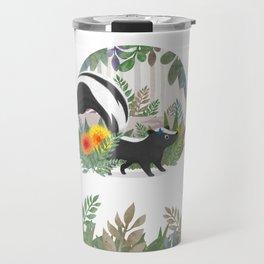 Skunk in the forest Travel Mug