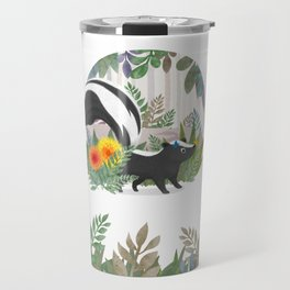 Skunk in the forest Travel Mug