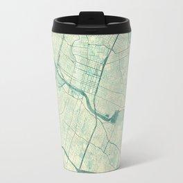 Austin Map Blue Vintage Travel Mug