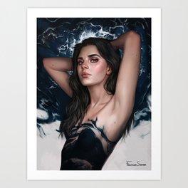 Keep on breathing Art Print