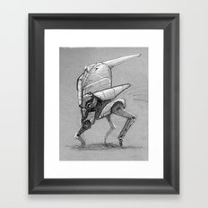 Winter Walker. Sketch. Framed Art Print