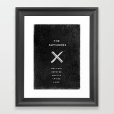 A MOVIE POSTER A DAY: THE OUTSIDERS Framed Art Print