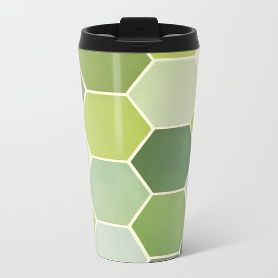 Shades of Green Metal Travel Mug