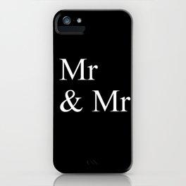 Mr & Mr Monogram standard iPhone Case