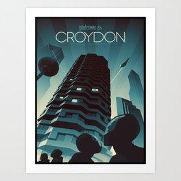 Welcome to Croydon Art Print