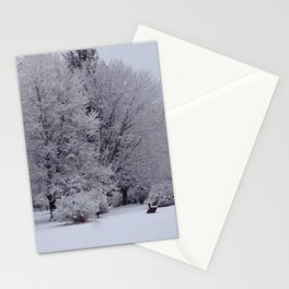 Blossoms on the lake Stationery Cards