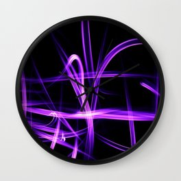 Abstract Purple Light Effect Wall Clock