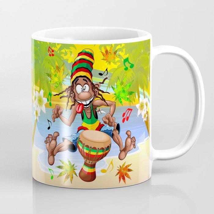 Rasta Bongo Musician funny cool character Coffee Mug