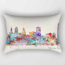 buffalo city new york Rectangular Pillow
