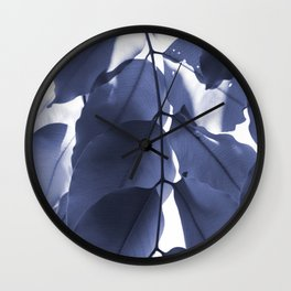 Leaves V Wall Clock