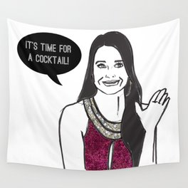 Cocktail Time Wall Tapestry
