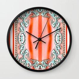 ORANGE LACE Wall Clock