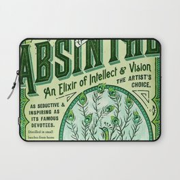 Vintage 1871 Absinthe Liquor Skeleton Elixir Aperitif Cocktail Alcohol Advertisement Poster Laptop Sleeve