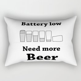 Once Charge Up Beer Rectangular Pillow