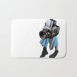Shooting head vintage camera Bath Mat