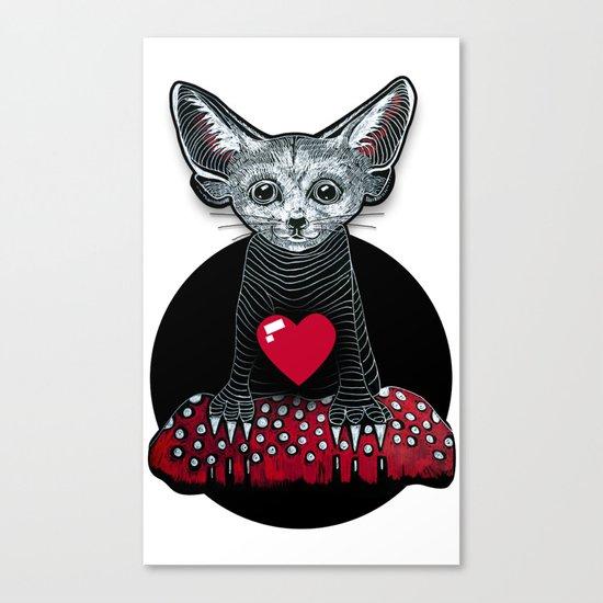 Little Fenek:::Big-hearted Canvas Print